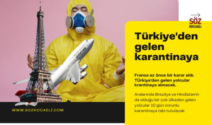 Türkiye'den gelen riskli görünüyor