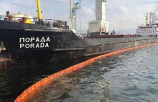 Derince Limanında Körfezi kirleten gemiye 1 milyon...