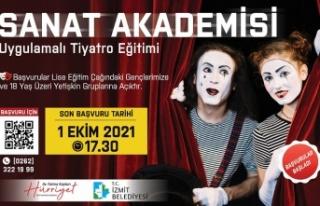 Uygulamalı Tiyatro Eğitimibaşvuruları bugün...