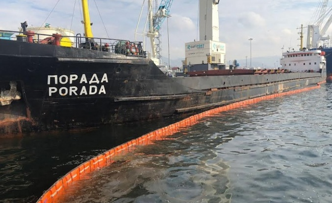 Derince Limanında Körfezi kirleten gemiye 1 milyon 286 bin TL ceza